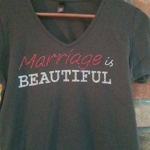 Tops - Marriage is Beautiful Graphic T-Shirt